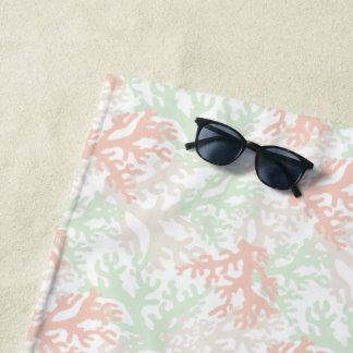 Coral Overlap Beach Towel ビーチタオル