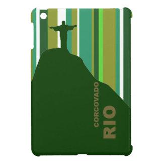 Corcovadoリオはとの縞で飾ります iPad Miniケース