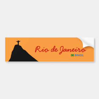 corcovado - RJ -ブラジル バンパーステッカー