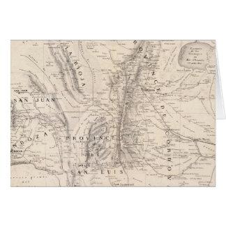 CordovaおよびSan Luisの地域の地図 カード