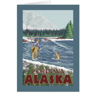 Cordova、アラスカ-はえの漁師 カード
