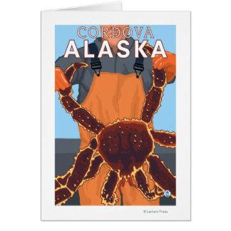 Cordova、アラスカ-タラバガニ漁師 カード