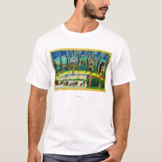 Cordova、アラスカ-大きい手紙場面 Tシャツ