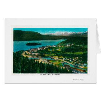 Cordova、AlaskaCordova、AKの町の眺め カード