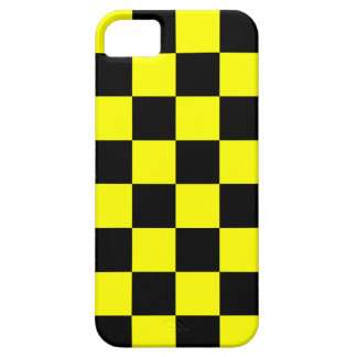 Coreyのトラ80sのネオンチェッカーボード(黄色) iPhone SE/5/5s ケース