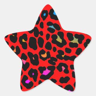 Coreyのトラ80sのヒョウの点(赤い) 星シール