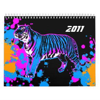 Coreyのトラ80sのレトロのスタイル2011のカレンダー カレンダー