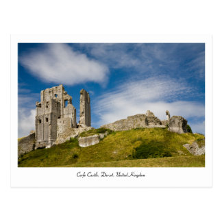 Corfeの城、ドーセット、イギリスの郵便はがき ポストカード