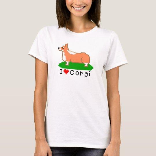 corgi (pixel art ) tシャツ