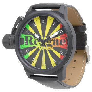 coriのラスタのレゲエの落書きの旗のライオン 腕時計