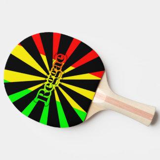 Cori Reithのラスタのレゲエのラスタの旗の落書き 卓球ラケット
