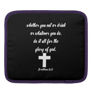 Corinthiansの10:31 iPadスリーブ