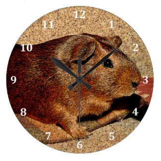 Corkboardの一見のモルモット ラージ壁時計