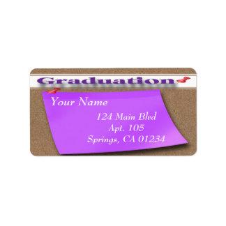 Corkboardの卒業の宛名ラベル ラベル