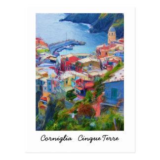 Corniglia Cinque Terreイタリア ポストカード