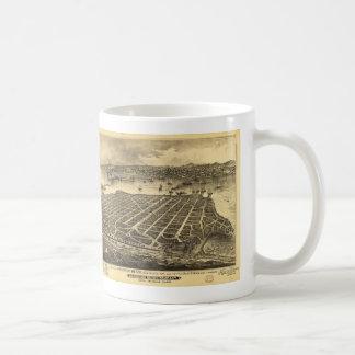 Coronadoのビーチサンディエゴカリフォルニア(1880年) コーヒーマグカップ
