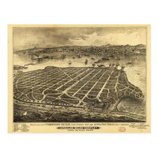 Coronadoのビーチサンディエゴカリフォルニア(1880年) ポストカード
