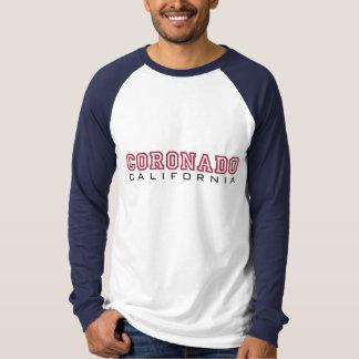 Coronadoカリフォルニア-手紙 Tシャツ