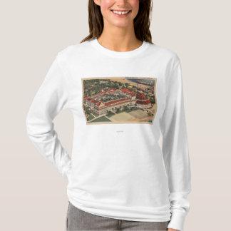 Coronado、ホテルのdel Coronadoの鳥瞰的なカリフォルニア- Tシャツ
