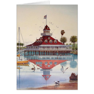 CORONADO、CORONADO、カリフォルニアのボートハウス カード