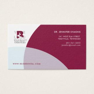Corporate Business Card : Maroon 名刺