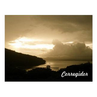 Corregidorの日没 ポストカード