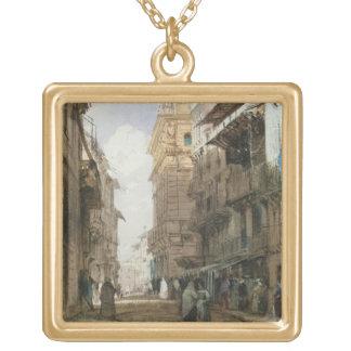 Corso Sant'Anastasia、Pの宮殿が付いているベロナ、 ゴールドプレートネックレス