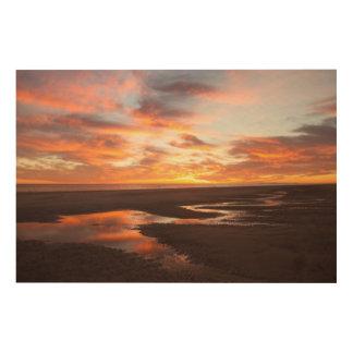 Cortezの海の日没 ウッドウォールアート