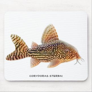 Corydoras Sterbaiのナマズのマウスパッド マウスパッド