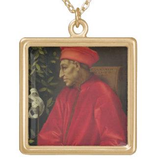 Cosimoのde Medici (Il Vecchio) (1389-1463年) 1518年(o ゴールドプレートネックレス
