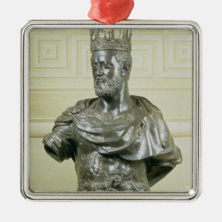 Cosimo I de Medici (1519-74年の) c.15のポートレートのバスト メタルオーナメント