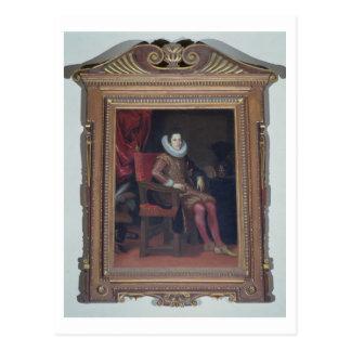Cosimo IIのde'Medici (1590-1621年)のポートレート(油o ポストカード