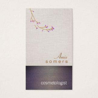 Cosmetology麻布および木質の一見のサロン 名刺