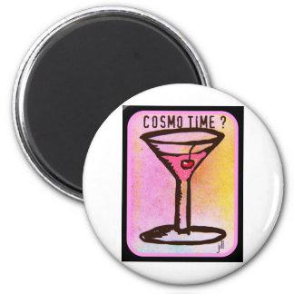 COSMOの時間ピンクのマルティーニのプリント マグネット