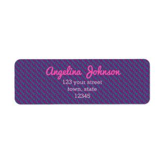 Costumer紫色のDecoパターンレトロのシンプルなトレンディー ラベル