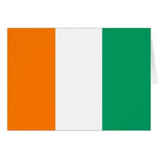 Coteのd'Ivoireの旗Notecard カード