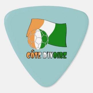 Cote D'Ivoireのサッカーボールおよび旗 ギターピック