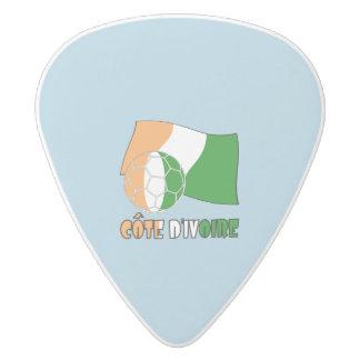 Cote D'Ivoireのサッカーボールおよび旗 ホワイトデルリン ギターピック