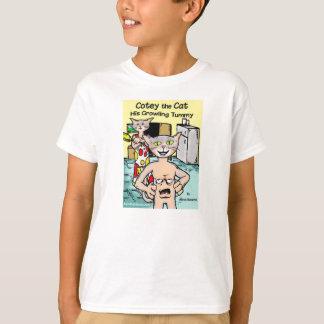 Cotey猫-彼のうなるおなかのTシャツ Tシャツ