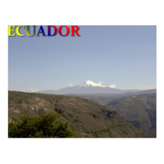 Cotopaxiのエクアドルの山 ポストカード