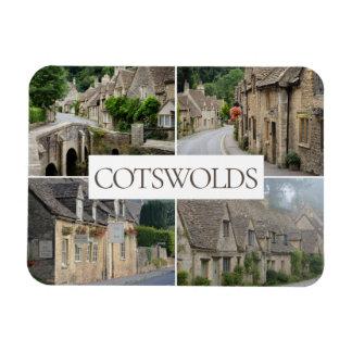 Cotswoldsの景色のコラージュ旅行写真 マグネット