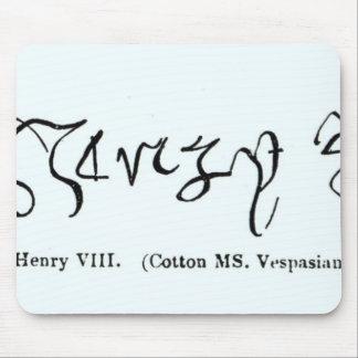 Cott Vesp F f.13ヘンリー八世の署名 マウスパッド