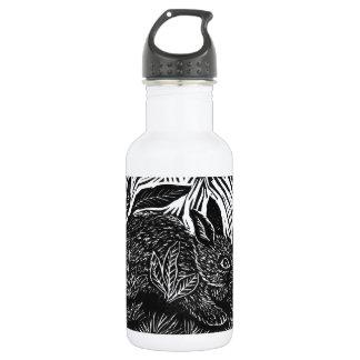 Cottontailウサギ-ブロックプリント ウォーターボトル