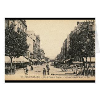 Courbetの聖者Nazaire、フランス通りde l'海軍大将 グリーティングカード