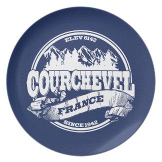 Courchevelの古い円の白 プレート