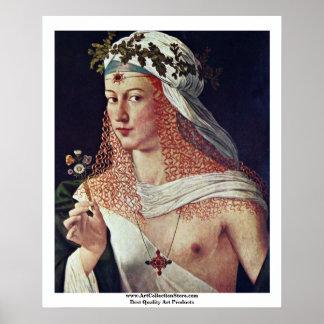 Courtesan (Lucrezia Borgiaのポートレートか。) ポスター