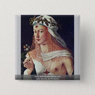 Courtesan (Lucrezia Borgiaのポートレートか。) 5.1cm 正方形バッジ