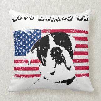 Coussin tissu Love Bulldog US クッション