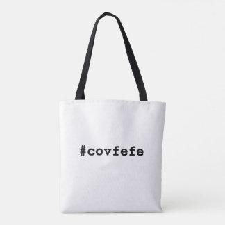 #covfefeのcovfefeの切札の文字のミームアメリカの政治 トートバッグ