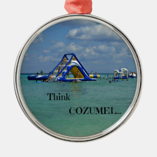 Cozumelを考えて下さい! メタルオーナメント